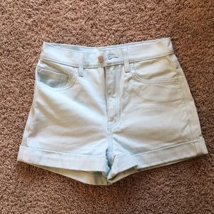 American Apparel classic shorts in mint color